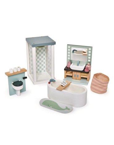 Drewniane meble do domku dla lalek - łazienka, Tender Leaf Toys