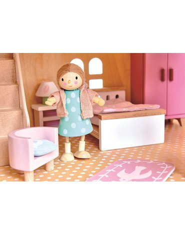 Drewniane meble do domku dla lalek - sypialnia, Tender Leaf Toys