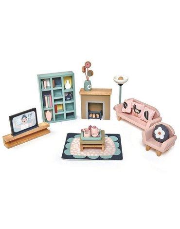 Drewniane meble do domku dla lalek - salon, Tender Leaf Toys