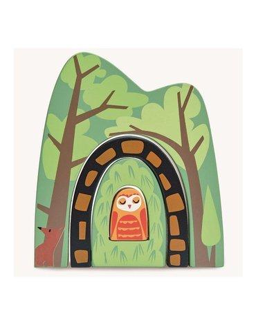 Drewniane akcesoria do kolejki - Leśy Tunel, Tender Leaf Toys