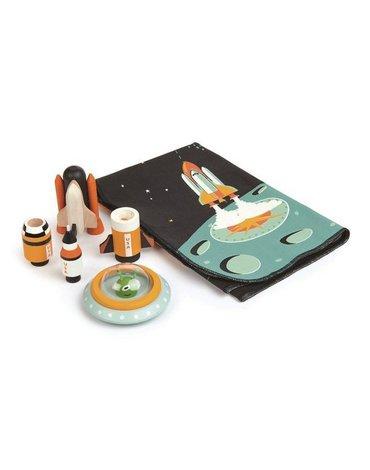 Mata z kosmicznymi, drewnianymi elementami - Przygoda w Kosmosie, Tender Leaf Toys
