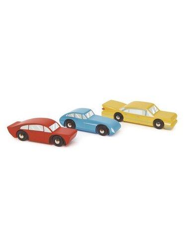 Drewniane samochody retro, 3 sztuki, Tender Leaf Toys