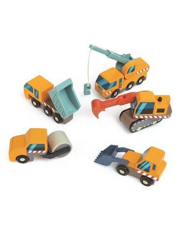 Drewniane pojazdy budowlane, Tender Leaf Toys
