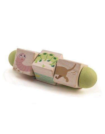 Drewniana układanka, twist - Zwierzątka, Tender Leaf Toys