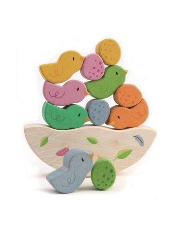 Drewniana gra zręcznościowa - Balansujące Małe Ptaszki, Tender Leaf Toys