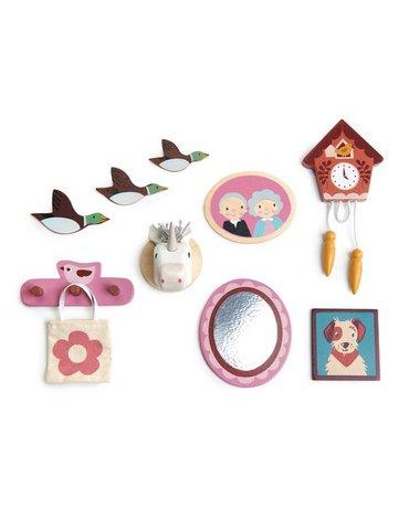 Drewniane akcesoria do domku dla lalek - dekoracje ścienne, Tender Leaf Toys