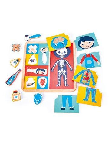Drewniana układanka edukacyjna - Ciało człowieka, Tender Leaf Toys