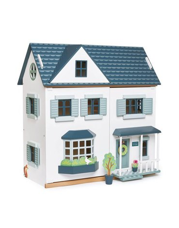 Drewniany trzypiętrowy domek dla lalek, Tender Leaf Toys
