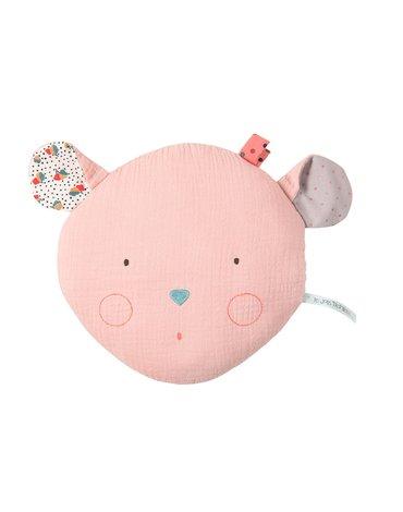 Moulin Roty - Poduszka różowa myszka 22 x 24cm  665132