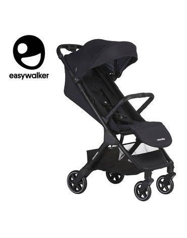 Easywalker Jackey Kompaktowy, samoskładający się wózek spacerowy z torbą transportową Shadow Black
