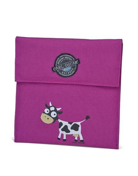 Carl Oscar Pack'n'Snack Sandwich Bag torebka termiczna na kanapki Purple - Cow