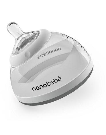 Nanobebe - Butelka do karmienia / przechowywania pokarmu 240ml ETAP 2 - szara