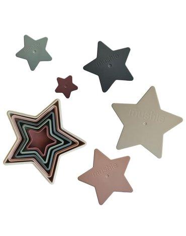 Mushie - Piramidka sensoryczna NESTING STAR