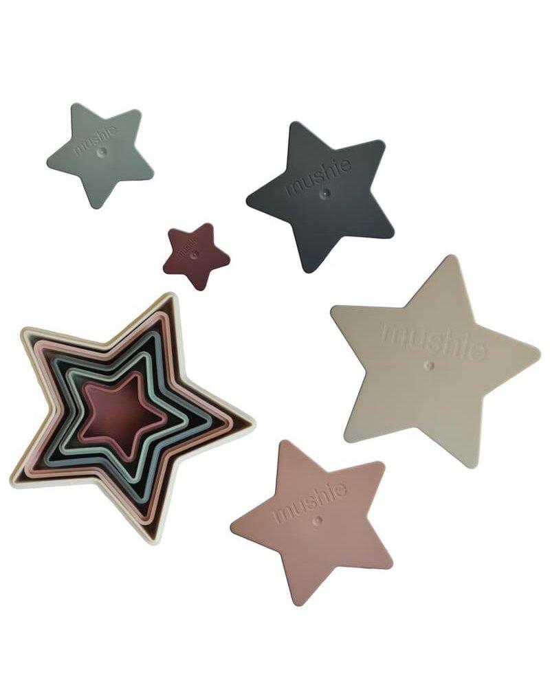 Mushie - Piramidka sensoryczna NESTING STAR mushie
