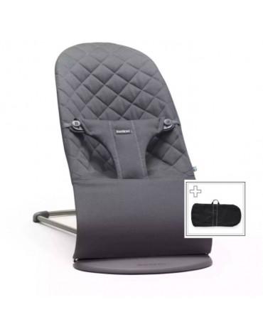BABYBJORN - leżaczek BLISS - Antracytowy + pokrowiec na leżaczek