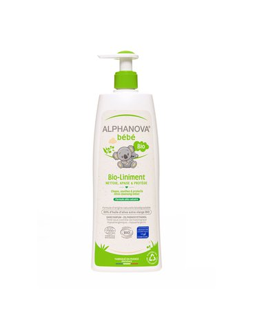 Alphanova Bebe, Organiczna oliwka z wodą wapienną BIO-Liniment, 500 ml