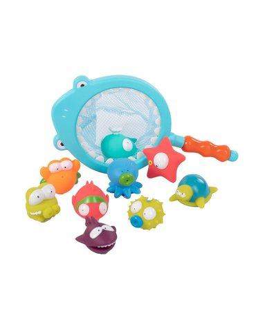 BoJungle - B-Zestaw REKIN i RYBKI siatka z zabawkami kąpiel