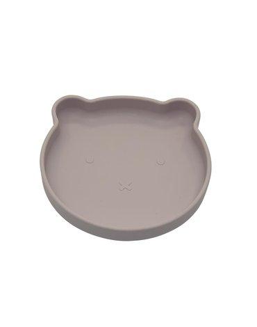 BoJungle - B-Talerzyk silikonowy Bear z przyssawką Grey