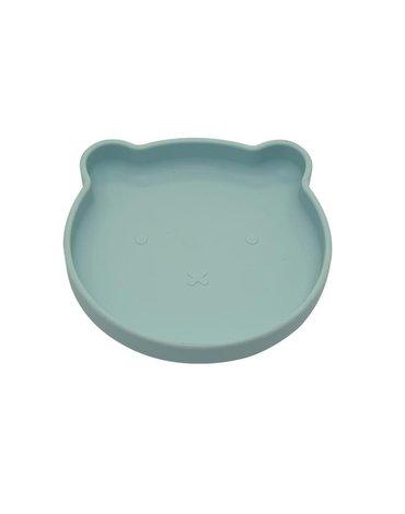 BoJungle - B-Talerzyk silikonowy Bear z przyssawką Blue mint