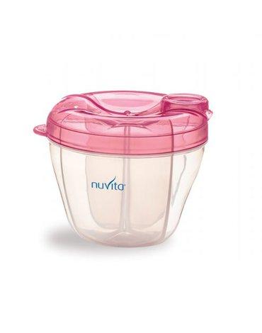 Nuvita, Pojemnik na mleko, 4 przegródki PINK