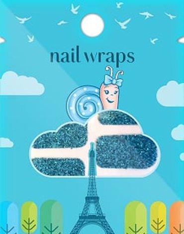 SNails, Naklejki na paznokcie, Nail Wrap – Turquoise, Turkusowe