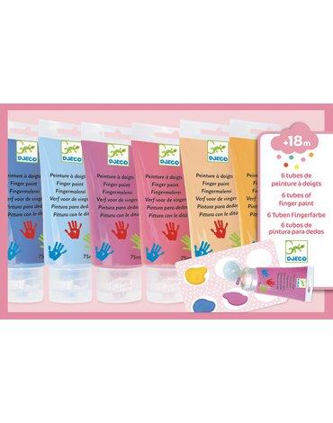 Djeco - Farby do malowania palcami SWEET DJ09000
