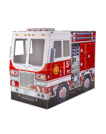 Melissa&Doug® - Wóz strażacki z kartonu