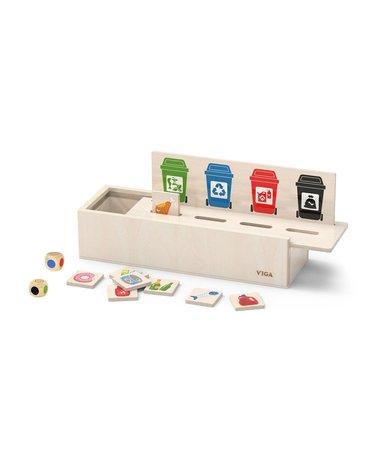 Viga - Układanka drewniana do nauki sortowania śmieci