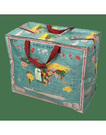 REX LONDON - Torba do przechowywania Jumbo Bag, Mapa świata