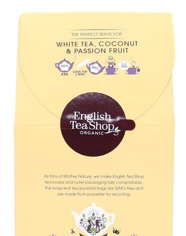 English Tea Shop, Herbata White Tea, Coconut & Passion, 15 piramidek.