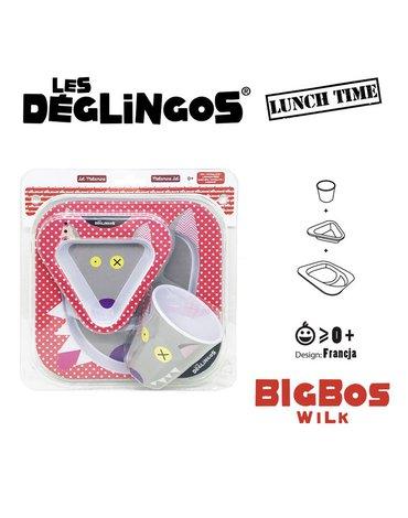 Les Deglingos 3 częściowy zestaw z melaminy Wilk Bigbos