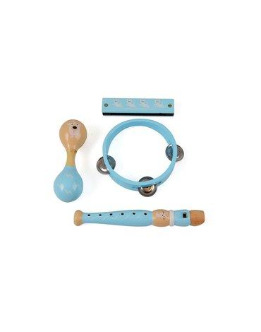 Magni - Zestaw muzyczny niebieski drewniany