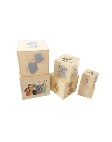 Magni - Drewniane kubeczki zabawka dla dzieci