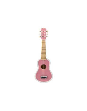 Magni - Różowa gitara drewniana zabawka