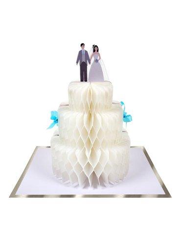 Meri Meri - Kartka okolicznościowa 3D Tort weselny