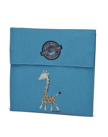Carl Oscar Pack'n'Snack Sandwich Bag torebka termiczna na kanapki Turquoise - Giraffe