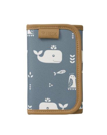 FRESK - Wallet billfold Whale blue