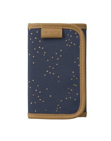 FRESK - Wallet billfold Indigo dots gold