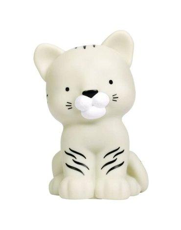 A Little Lovely Company - Mała Lampka Biały Tygrysek