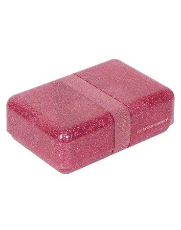 A Little Lovely Company - Śniadaniówka Lunchbox GLITTER Pink