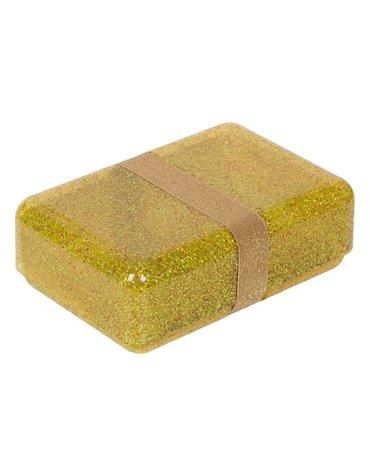 A Little Lovely Company - Śniadaniówka Lunchbox GLITTER Gold