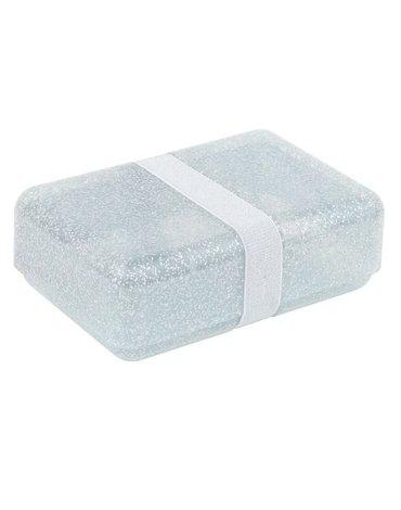A Little Lovely Company - Śniadaniówka Lunchbox GLITTER Silver
