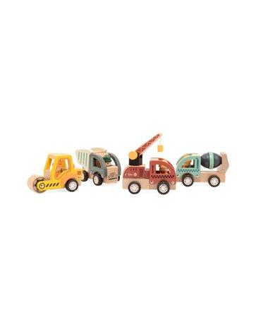 Magni - Pojazdy budowy autka do rączki drewniane