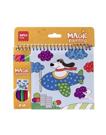 Kolorowanka z magicznymi markerami Apli Kids