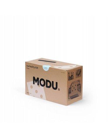 MODU Curiosity kit 4in1 - Kreatywne klocki rozwijające motorykę dużą, niebieski