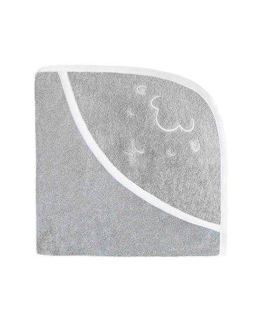 Effiki - Ręcznik z kapturkiem - Owieczka Szary 95 x 95 cm