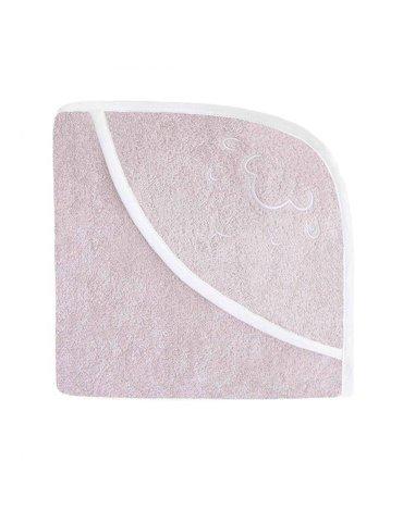 Effiki - Ręcznik z kapturkiem - Owieczka Różowy 95 x 95 cm