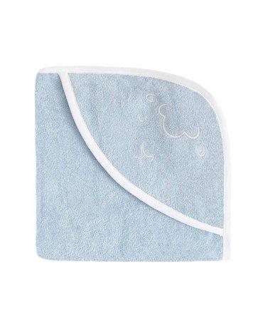 Effiki - Ręcznik z kapturkiem - Owieczka Niebieski 95 x 95 cm