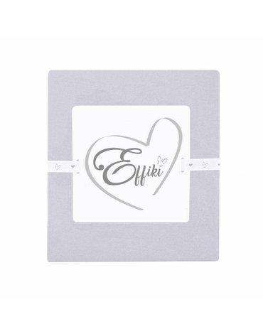 Effiki - Prześcieradło z gumką 100% bawełny - Szare 60x120