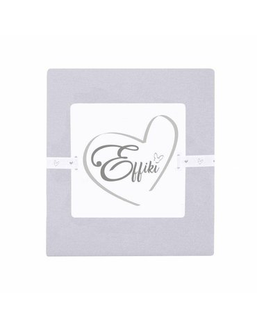 Effiki - Prześcieradło z gumką 100% bawełny - Szare 70x140